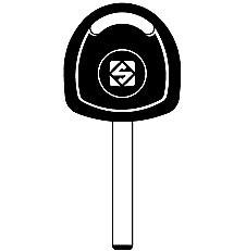 HU100T12 Transponder Key Blank