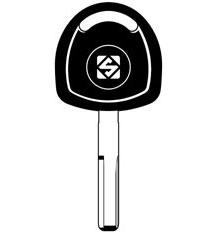 HU43T2 Transponder Key Blank
