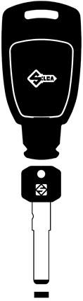 Silca SIP22MHK Keyless Electronic Key for Fiat